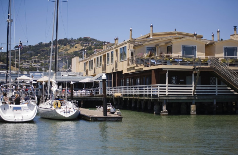 Exterior view of Waters Edge Hotel Tiburon.