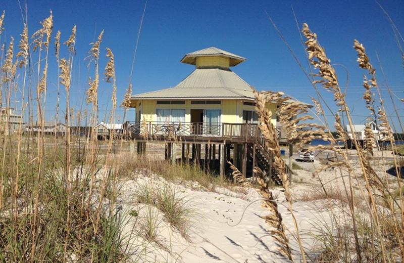 Beach near near Gulf Shores Rentals.