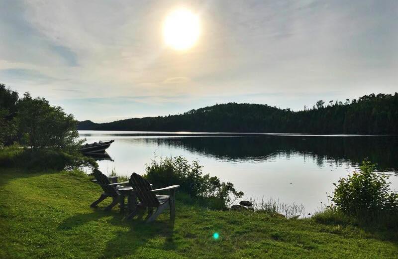 Lake view at Loon Lake Lodge