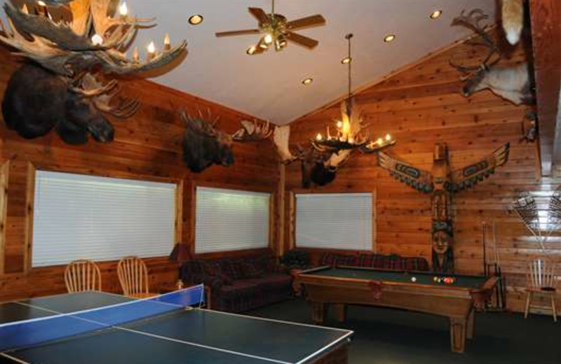 Recreation room at Gone Fishin' Lodge.