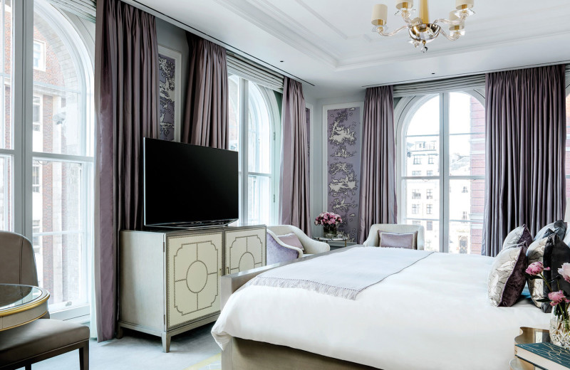 Guest room at The Langham, London.