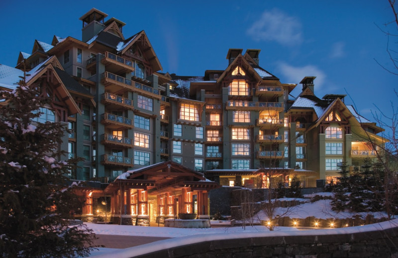 Exterior view of Four Seasons Resort Whistler.
