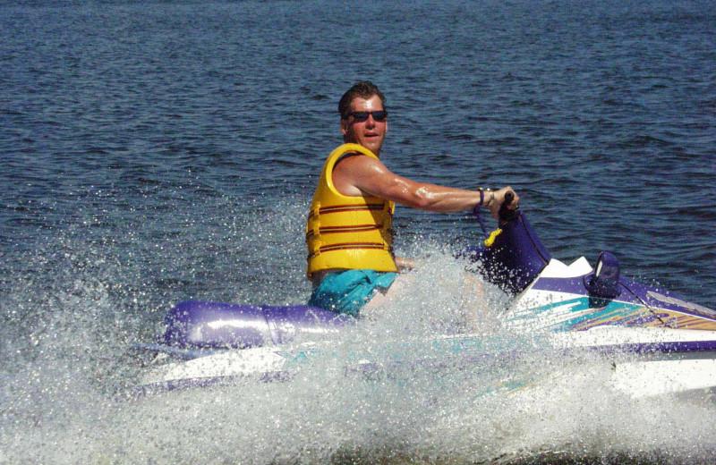Water activities at Voyageurs Sand Lake Resort.