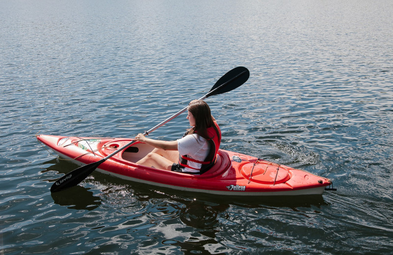 Recreational equipment at Heather Lodge include: canoes, kayaks, SUP boards and paddleboat.