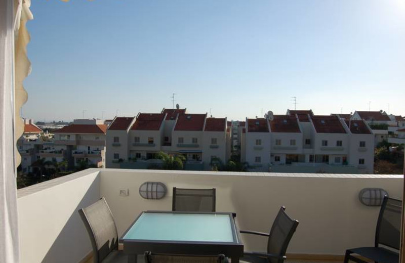 Rental balcony at David Gaffan Holiday Apartments.