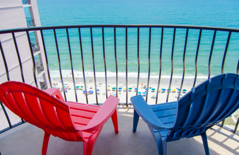 Balcony view of Palms Resort.
