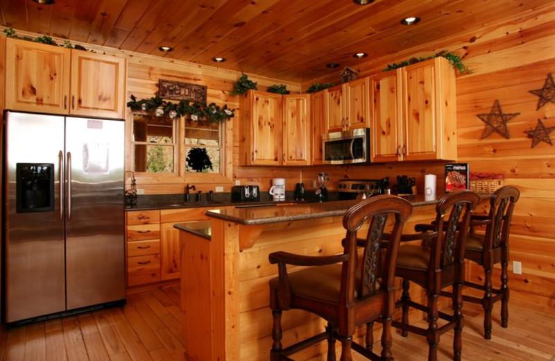 Rental kitchen at Jackson Mountain Homes.