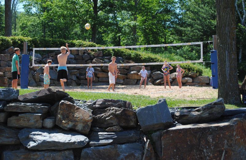 Volleyball court at Big Sandy Lodge & Resort.