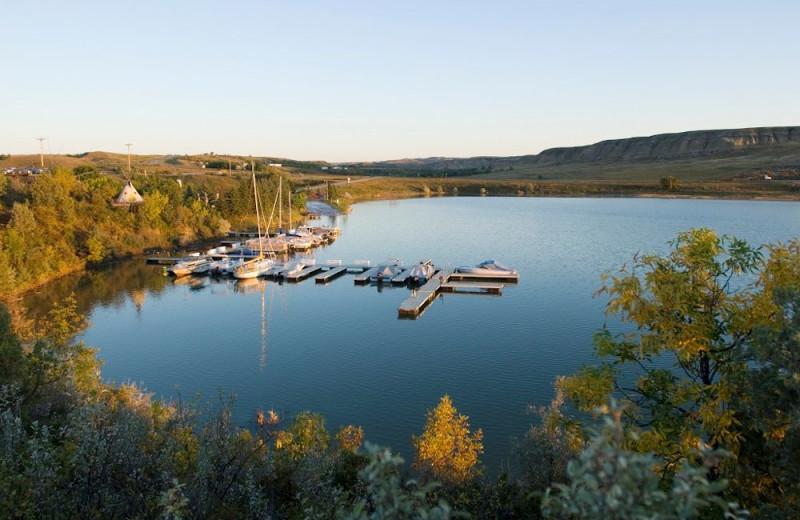 Lake at Lund's Landing Resort.