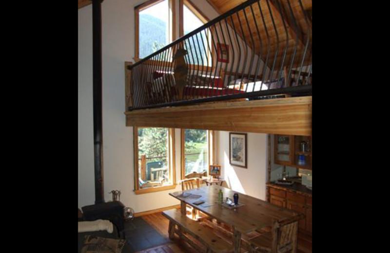 Lodge interior at Clark Fork River Lodge.