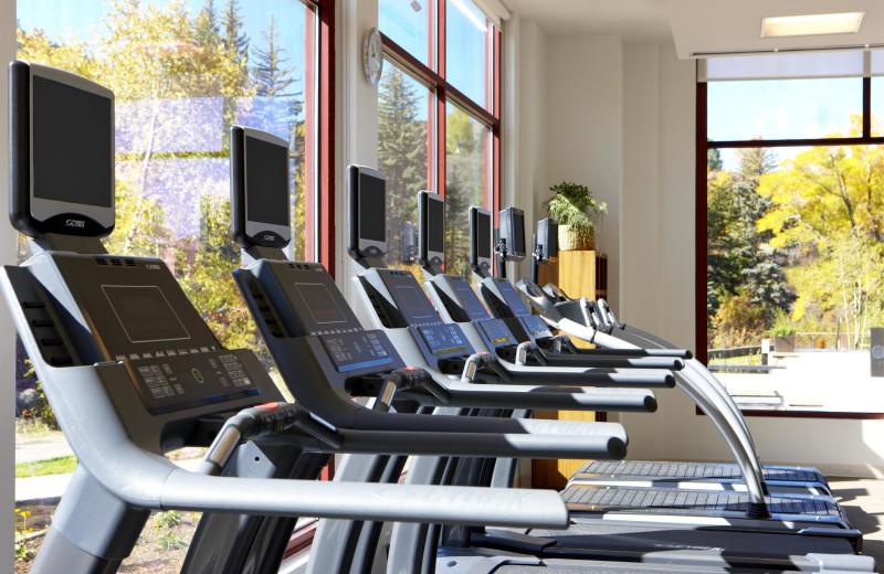 Treadmills at The Westin Riverfront Resort & Spa.