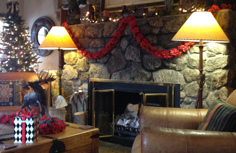 Fireplace at Meadow Creek Lodge and Event Center.