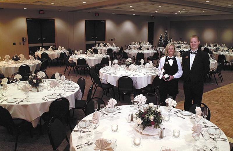 Wedding reception at Crystal Mountain Resort and Spa.