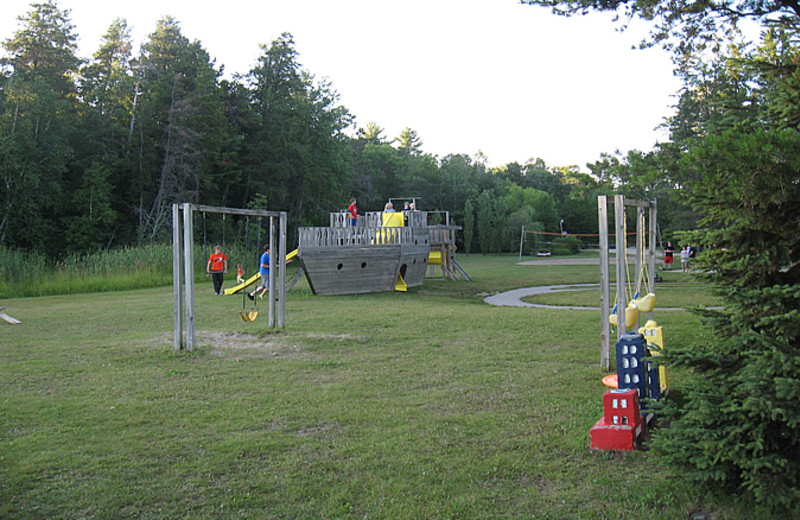 Playground at Little Norway Resort.