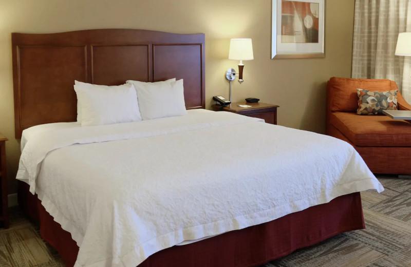 Guest room at Hampton Inn Lima Ohio.