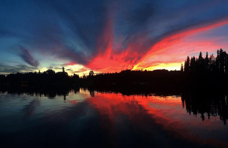 Sunset at Bakers Narrows Lodge.