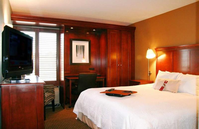 Guest room at Hampton Inn Traverse City.