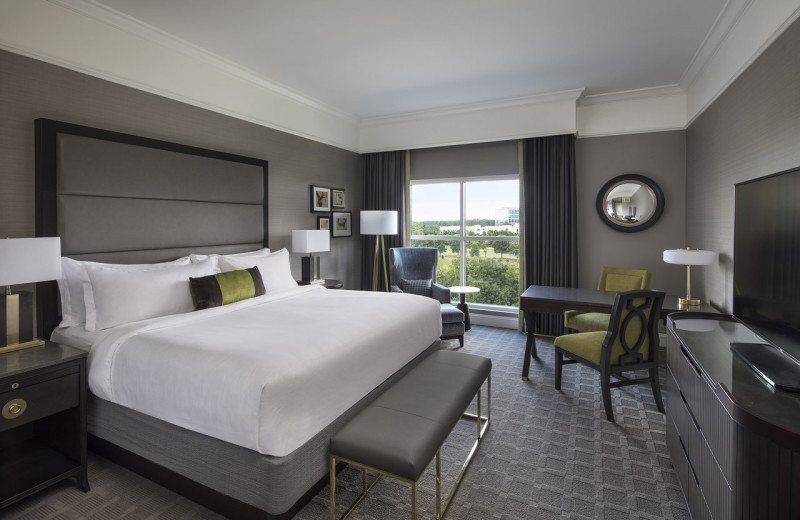 Guest room at The Ballantyne Hotel