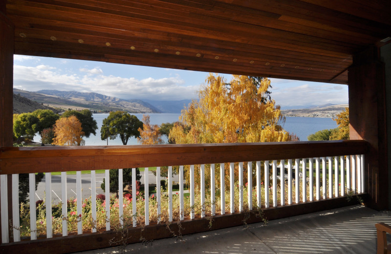 Balcony view at Lakeside Lodge & Suites.