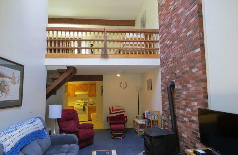 Rental living room at The Seasons Resort.