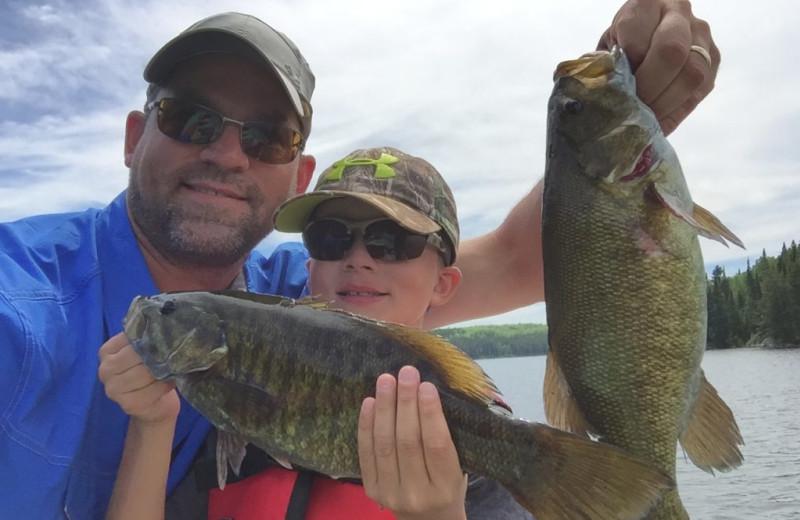 Fishing at Rainbow Point Lodge.