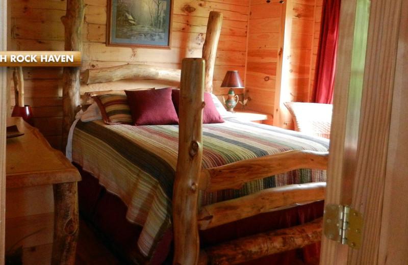 Rental bedroom at High Rock Rentals.