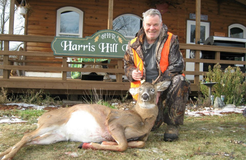 Deer hunting at Harris Hill Resort.