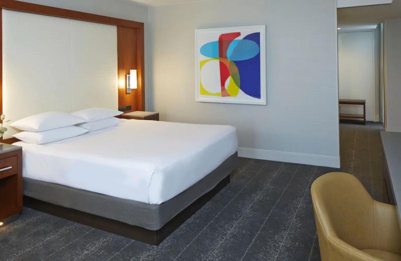 Guest room at Hyatt Regency Atlanta.