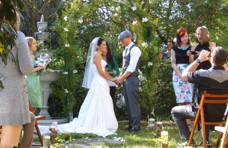 Weddings at Roussell's Garden Bed