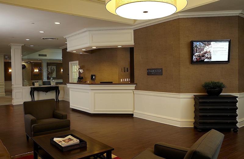 Lobby at Ethan Allen Hotel.