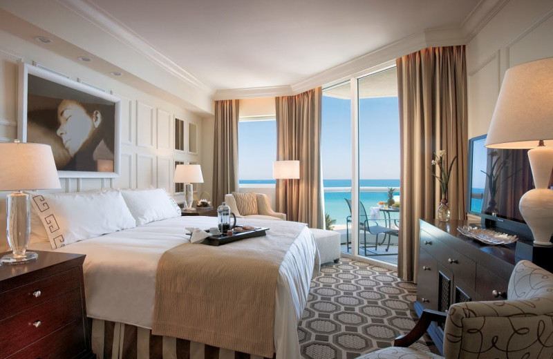 Guest room at Acqualina A Rosewood Resort.
