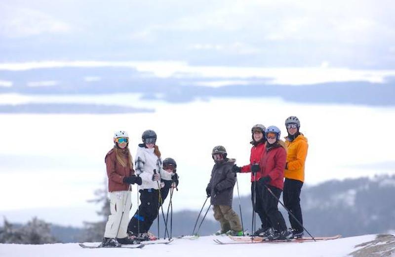 Skiing buddies at The Margate on Winnipesaukee.