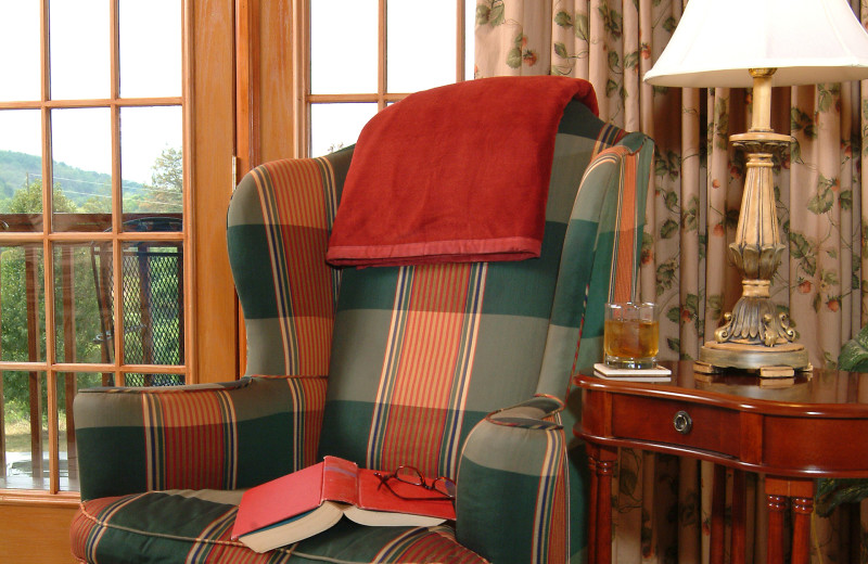 Lounge chair at Berry Springs Lodge.
