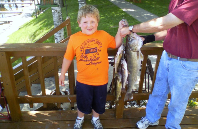 Family fishing at Adrian's Resort.