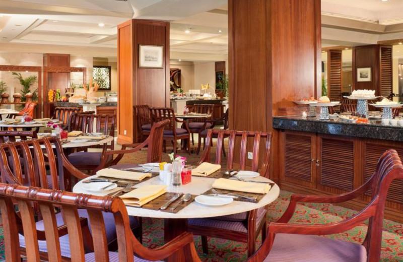 Dining at Holiday Inn Crowne Plaza Jakarta.