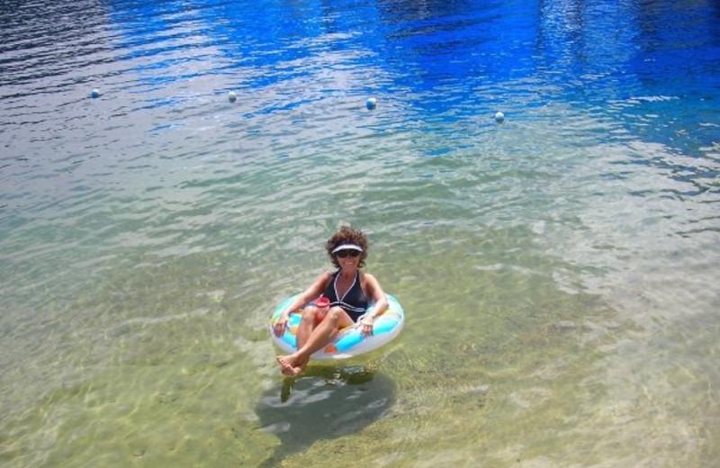 Swimming at Blue Diamond Marina & Resort.