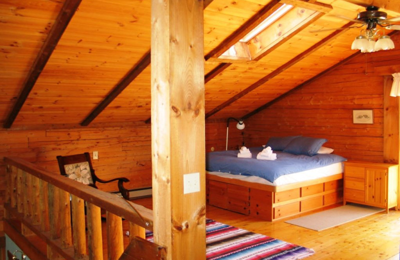 Rental bedroom at Franconia Notch Vacations Rental & Realty.