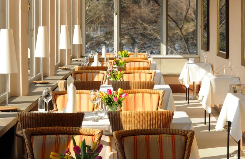 Dining at Schloss Eckberg.