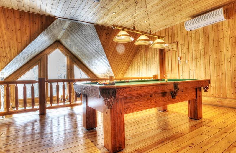 Chalet loft at Fiddler Lake Resort.