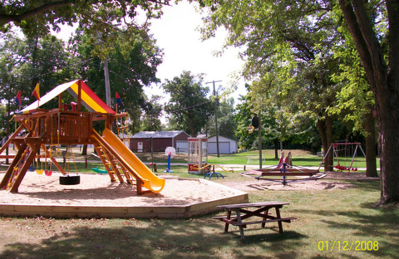Children's playground at Red Lantern Resort.