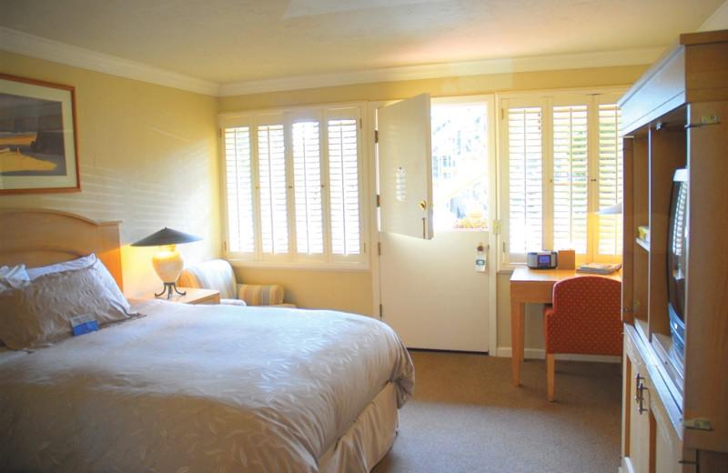 Bedroom view at Carmel Lodge.