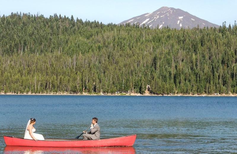 Lake at Elk Lake Resort.