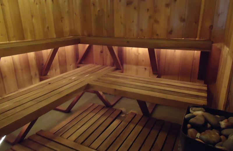 Sauna at Holiday Acres Resort.