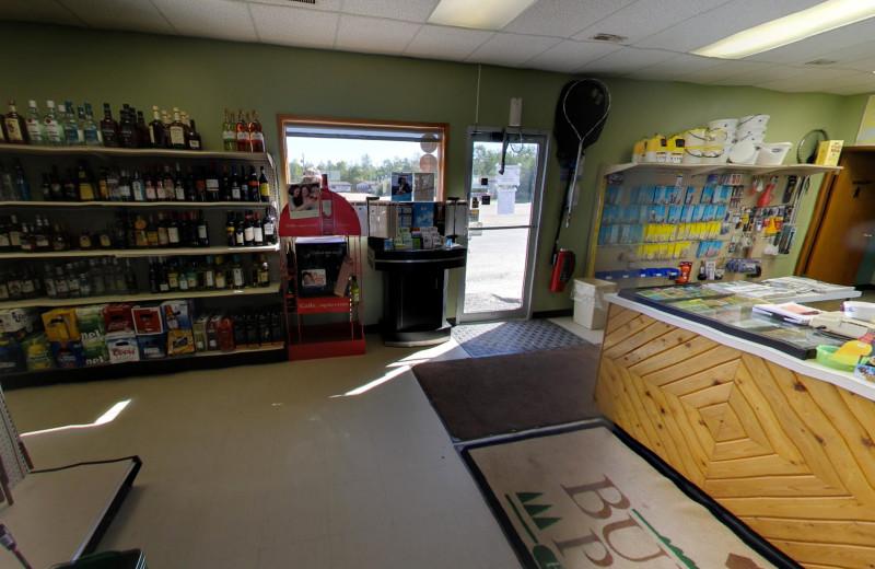 Bait shop at Buffalo Point Resort.