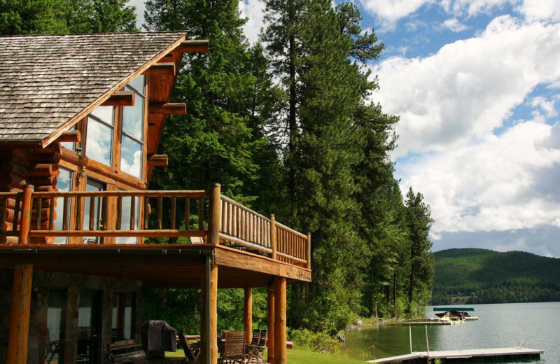 Cabin exterior at Five Star Rentals of Montana.