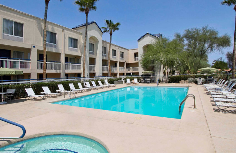 Outdoor pool of Fairfield Inn Scottsdale North.