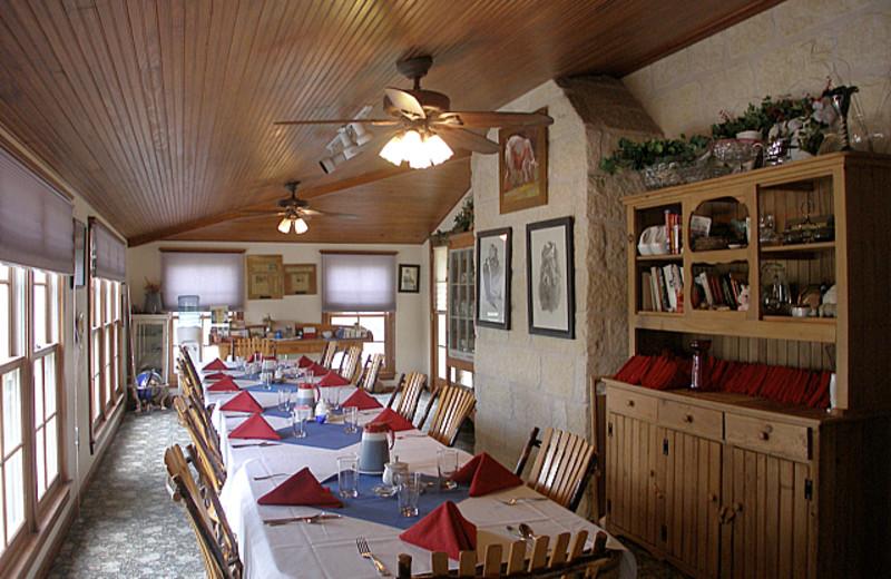 Dining room at Full Moon Inn.
