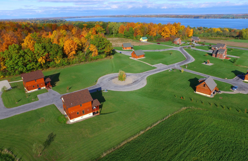 Aerial view of Cobtree Vacation Rental Homes.