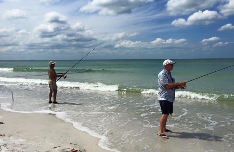 Fishing at Shoreline Island Resort.