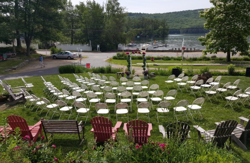 Wedding at Cottage Place on Squam Lake.